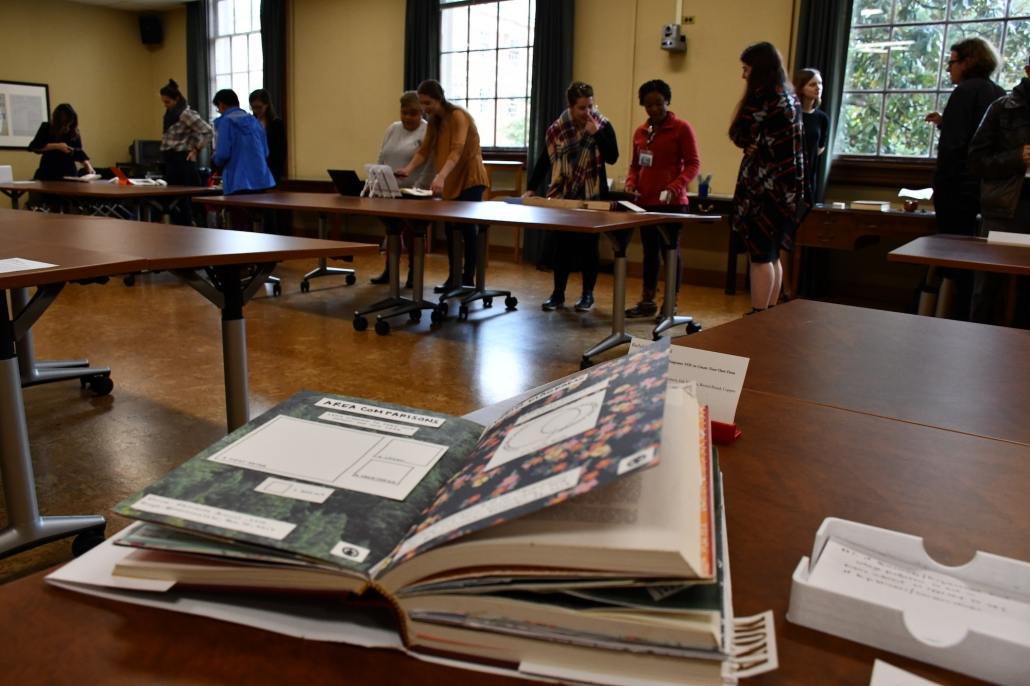 An artifact from the Bibliocircuitry: Old Books, New Stories showcase