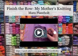 Slide of knitting materials