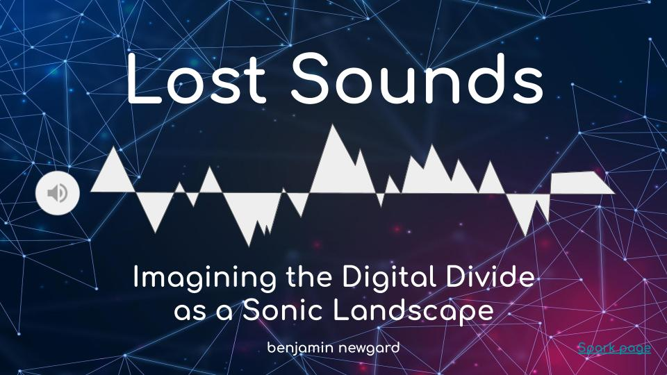 Lost Sounds slide with audio wave visualization